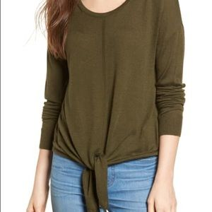 Madewell Modern Tie Front Sweater